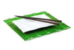 Chopsticks and plate Royalty Free Stock Images