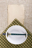 Chopsticks and plate Royalty Free Stock Photo