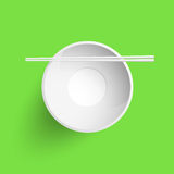 Chopsticks put on empty cup. Vector illustration Stock Image