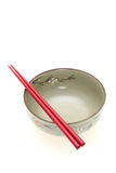 Chopsticks and rice bowl Stock Photography