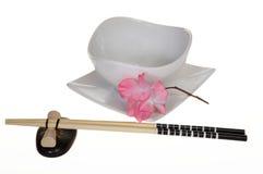 Chopsticks and Rice Bowl Royalty Free Stock Photos