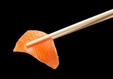 Chopsticks with salmon Stock Image