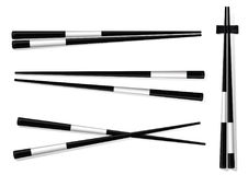 Chopsticks. Set Accessories for Sushi Isolated on White Backgrou Royalty Free Stock Photo