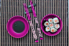Chopsticks and sishi. Royalty Free Stock Photos