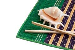 chopsticks skorupy Fotografia Royalty Free