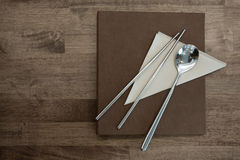 Chopsticks and Spoon royalty free stock image