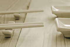 Chopsticks on stand Royalty Free Stock Image