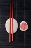 Chopsticks on stand Royalty Free Stock Photos