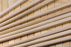 The chopsticks on straw matt Stock Images
