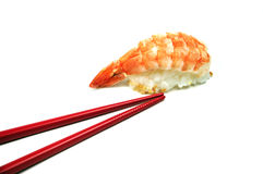 Chopsticks and sushi Stock Images