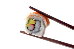 Chopsticks and sushi Royalty Free Stock Images