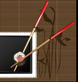 chopsticks and sushi Royalty Free Stock Photos