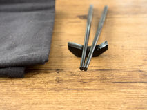 Chopsticks on a table Royalty Free Stock Photography