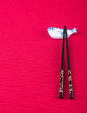 Chopsticks. two chopssticks on the background Royalty Free Stock Image