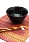 Chopsticks w azjata setu stole Obraz Stock