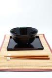 Chopsticks w azjata setu stole Fotografia Stock