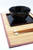Chopsticks w azjata setu stole Obraz Royalty Free