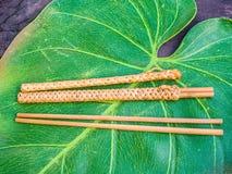 Chopsticks w skrzynkach Zdjęcie Royalty Free