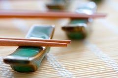 chopsticks zamykają zamykać Zdjęcia Stock