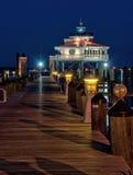 Choptank Rzeczna latarnia morska przy nocą Zdjęcia Stock