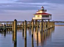 Choptank Rzeczna latarnia morska przy zmierzchem Zdjęcie Stock