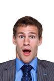 Choque da expressão do homem de negócios Imagem de Stock Royalty Free