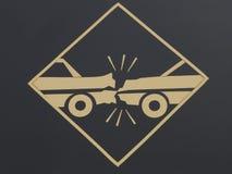 Choque de carro Imagens de Stock Royalty Free