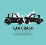 Choque de coche. Imagenes de archivo