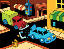 Choque de coche - día asoleado Fotografía de archivo libre de regalías
