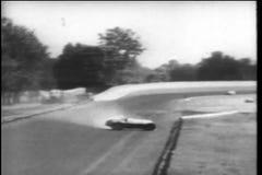Choque de coche durante Indy 500, Indianapolis Motor Speedway almacen de metraje de vídeo
