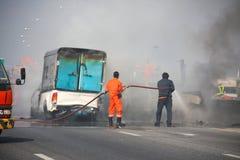 Choque de coche explosivo Fotografía de archivo libre de regalías