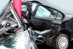 Choque de coche maldecido Imagen de archivo libre de regalías