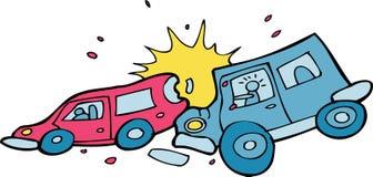 Choque de coche - ningún fondo Imágenes de archivo libres de regalías