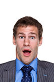 Choque de la expresión del hombre de negocios imagen de archivo libre de regalías