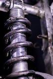 Choque de la parte posterior de la motocicleta Imagen de archivo