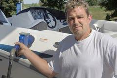 Choque do preço em o abastecedor do gás Fotografia de Stock Royalty Free
