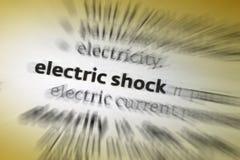 Choque eléctrico fotografia de stock