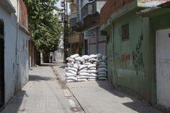 CHOQUE EN CIZRE, SIRNAK Foto de archivo