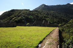 Choquequirao. Is an archaeological site located in southern Peru of an ancient Inca city, conoscito less than Machu Picchu but by no means least, in Quechua Royalty Free Stock Photo