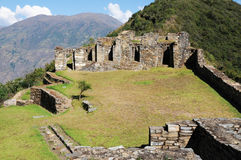 Choquequirao. Is an archaeological site located in southern Peru of an ancient Inca city, conoscito less than Machu Picchu but by no means least, in Quechua Royalty Free Stock Image