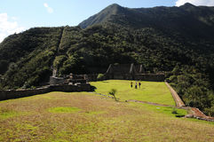 Choquequirao. Is an archaeological site located in southern Peru of an ancient Inca city, conoscito less than Machu Picchu but by no means least, in Quechua Stock Image