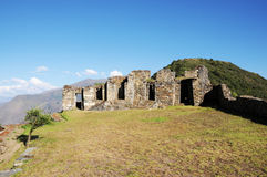 Choquequirao. Is an archaeological site located in southern Peru of an ancient Inca city, conoscito less than Machu Picchu but by no means least, in Quechua Stock Photos