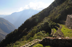 Choquequirao. Is an archaeological site located in southern Peru of an ancient Inca city, conoscito less than Machu Picchu but by no means least, in Quechua Royalty Free Stock Photography