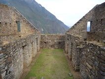 Choquequirao inka ruin in peruvian mountain jungle Stock Images