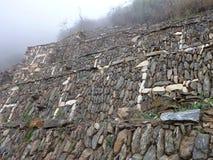 Choquequirao inka ruin in peruvian mountain jungle. The choquequirao inka ruin in peruvian mountain jungle stock images