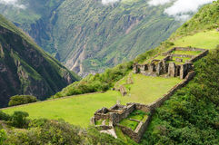 choquequirau cuzco inka blisko Peru ruin Zdjęcie Royalty Free