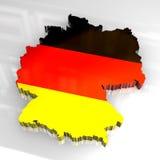 chorągwiana 3d mapa Germany Zdjęcie Royalty Free