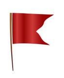chorągwiana czerwień Zdjęcia Royalty Free