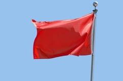 chorągwiana czerwień Zdjęcie Stock