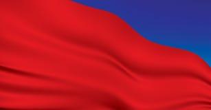 chorągwiana czerwień Obrazy Royalty Free